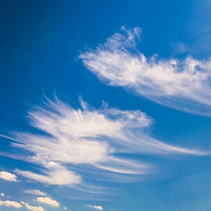 Drobne ovčice na nebu.